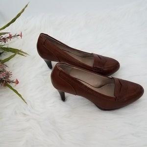 ADRIENNE VITTADINI Brown Leather 8.5M
